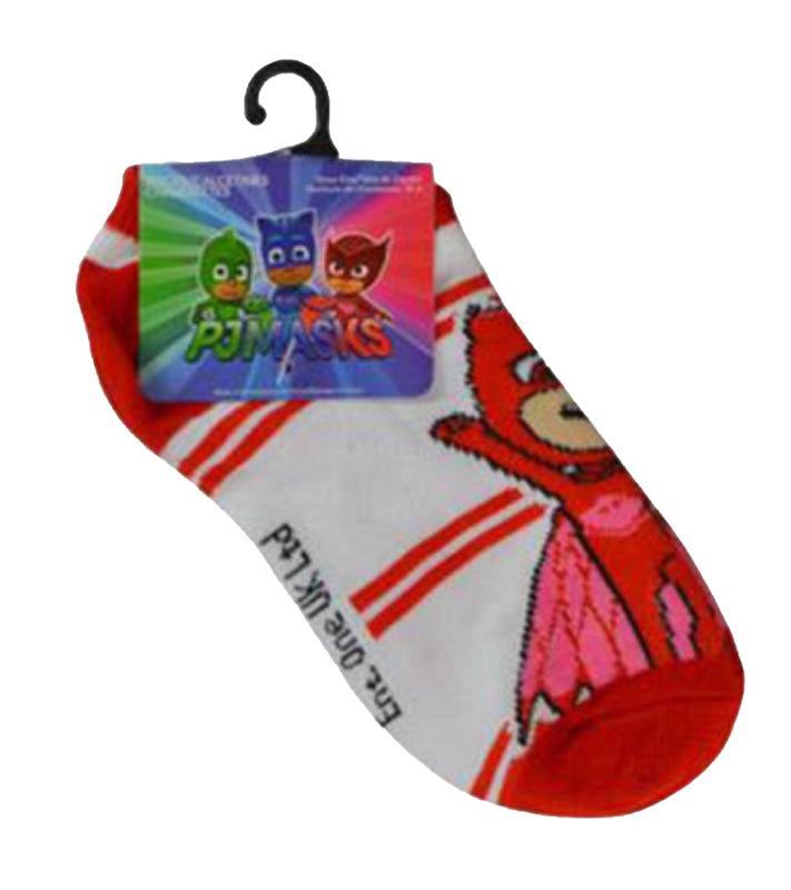 PJ Masks Kids Anklets Socks Owlette