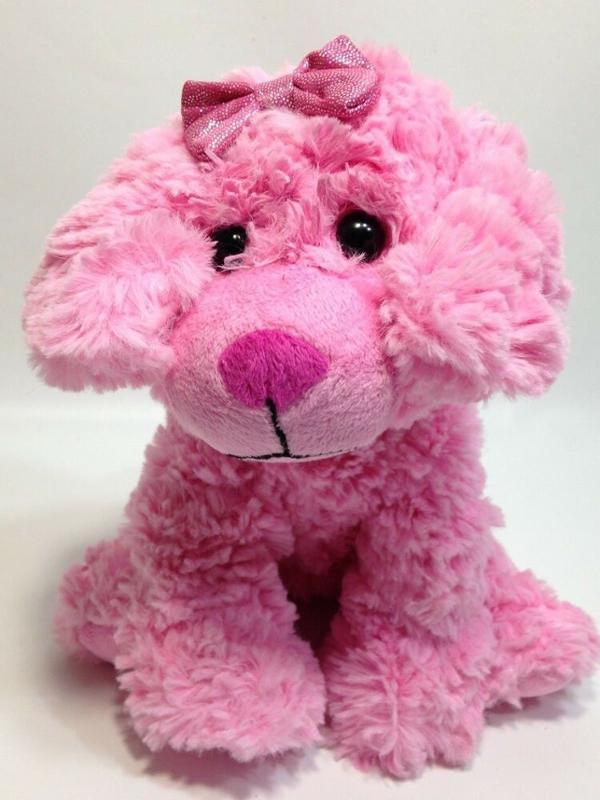 Posh Scruffy Pink Puppy 8 Inch