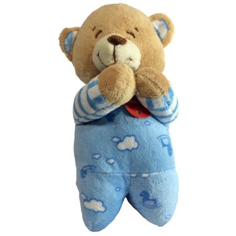 Praying Teddy Bear Now I Lay Me Down To Sleep Prayer - Blue - 7 Inch