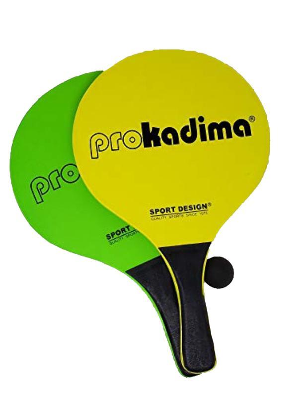 Pro Kadima Beach Paddles Green and Yellow Neon