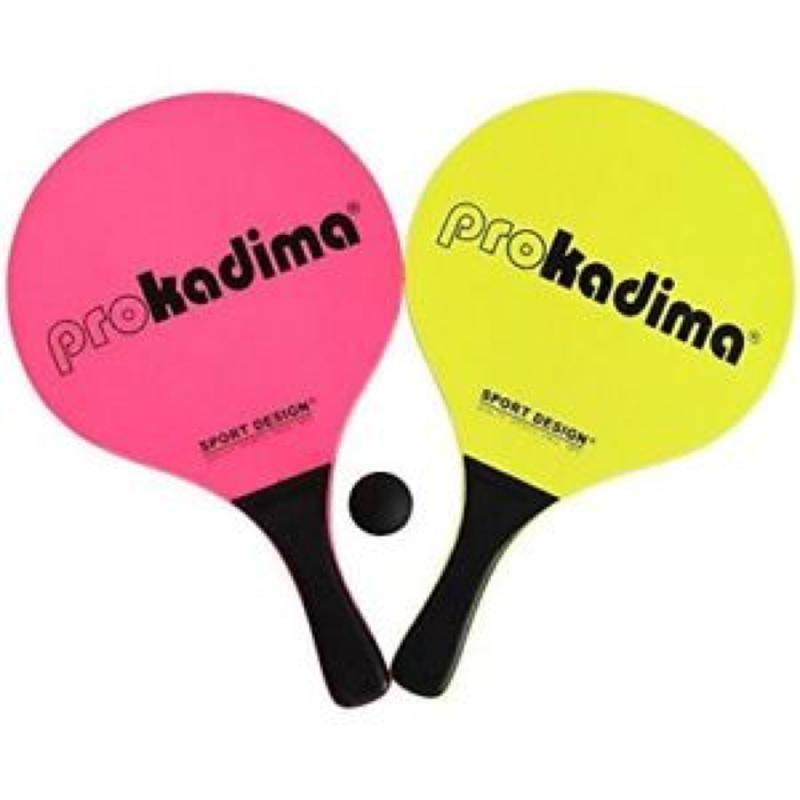 Pro Kadima Beach Paddles Neon Yellow and Pink