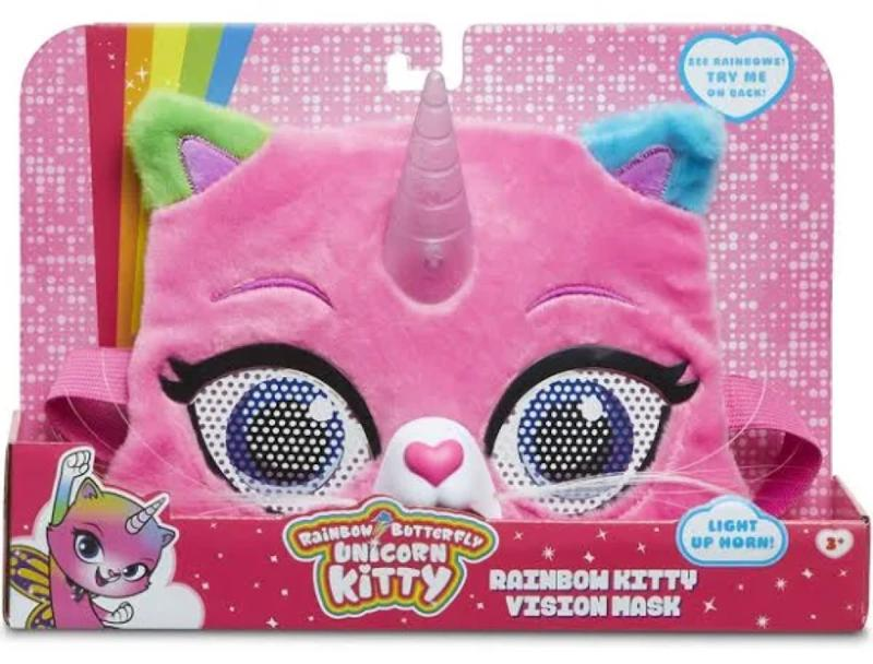 Rainbow Butterfly Unicorn Kitty - Kitty Vision Mask