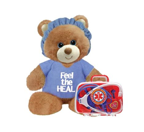Feel the Heal Blue 11 Inch Bear with Emergency Rescue Medic Kit