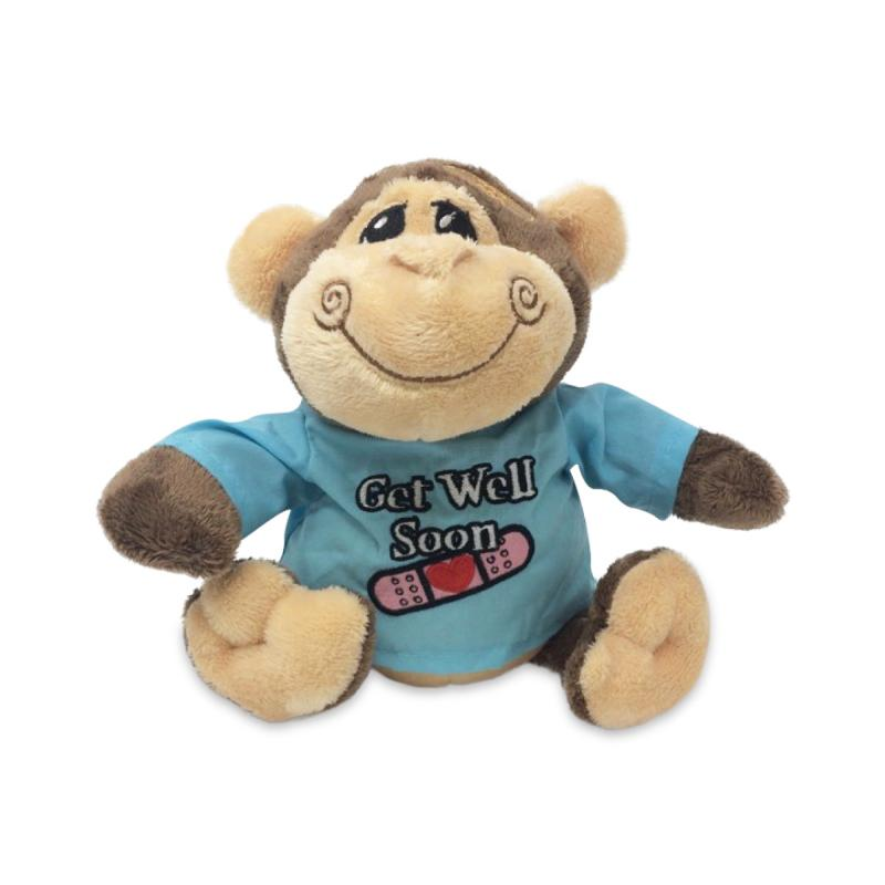 Get Well 9 Inch Sitting Monkey Random Selection