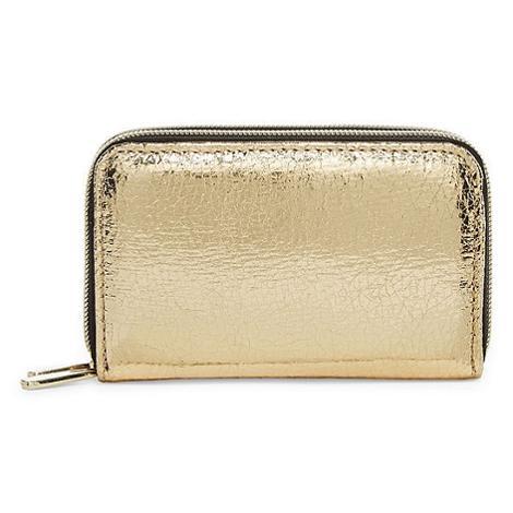 Rose Gold Metallic Zip Around Wallet