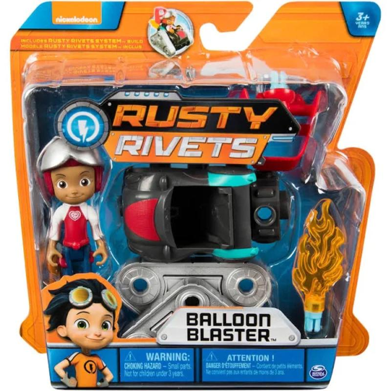 Rusty Rivets Balloon Blaster Figure Set with Ruby