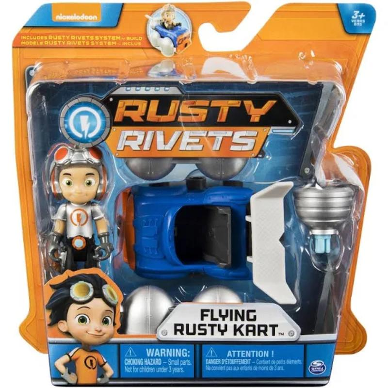 Rusty Rivets Flying Rusty Kart Build with Rusty Figure