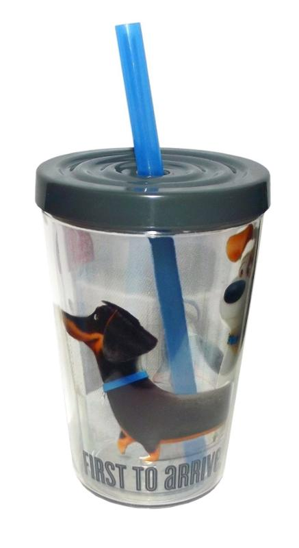 Secret Life Of Pets 13 oz. Insulated Tumbler With Straw, Max and Duke