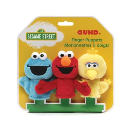 Cookie Monster, Elmo, and Big Bird 3.75 Inch Finger Puppets
