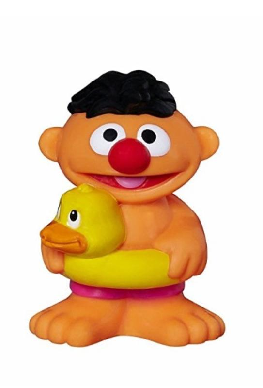 Sesame Street Bath Squirter Ernie and Rubber Ducky