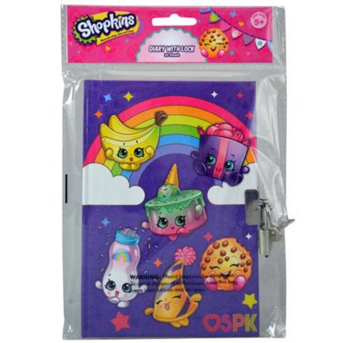 Shopkins Diary 50 Sheets with Lock