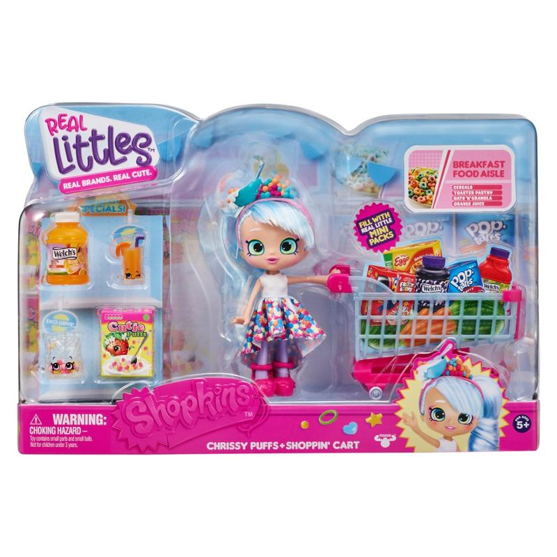 Shopkins Real Littles Chrisy and Shopping Cart