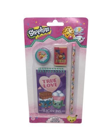 Shopkins 4pc Stationery Study Set True Love