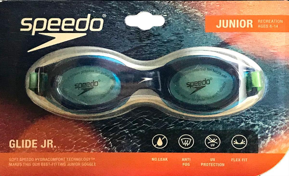 Speedo Glide JR Blue with Green Straps