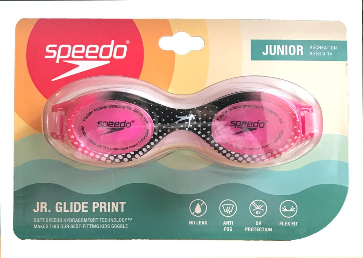 Speedo Glide Jr Print Pink and Black