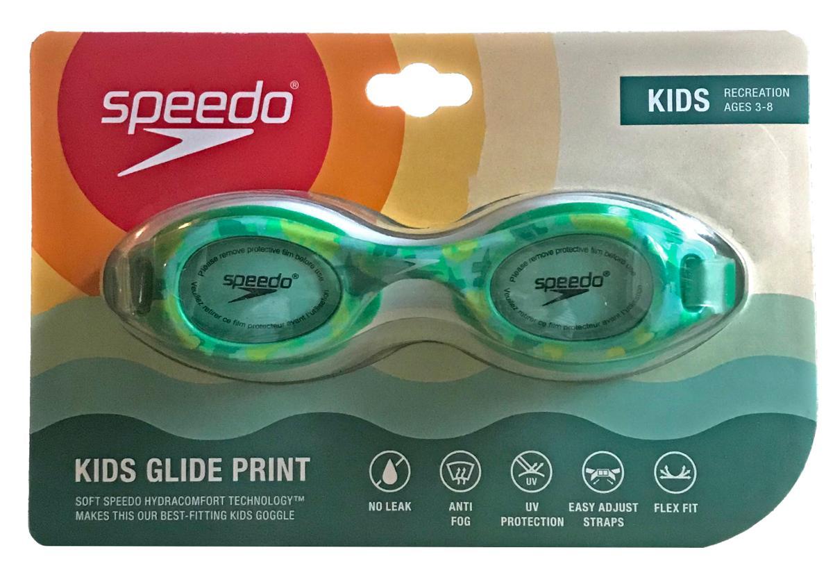 Speedo Kids Glide Print Green Camo Goggles