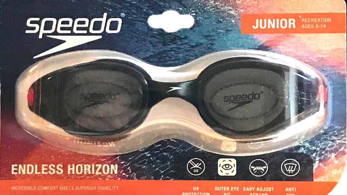 Speedo Junior Endless Horizon Black with Red Straps