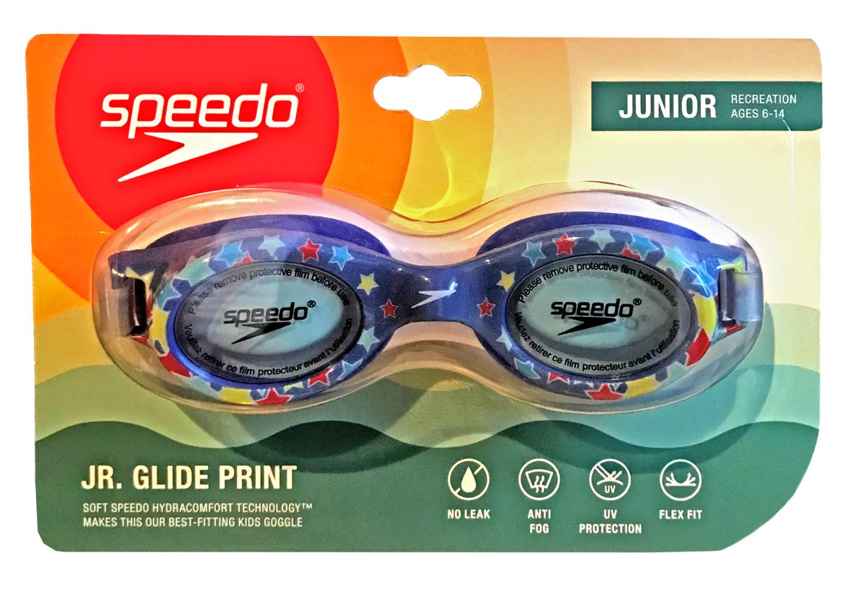 Speedo Kids Glide Print Blue Stars Goggles