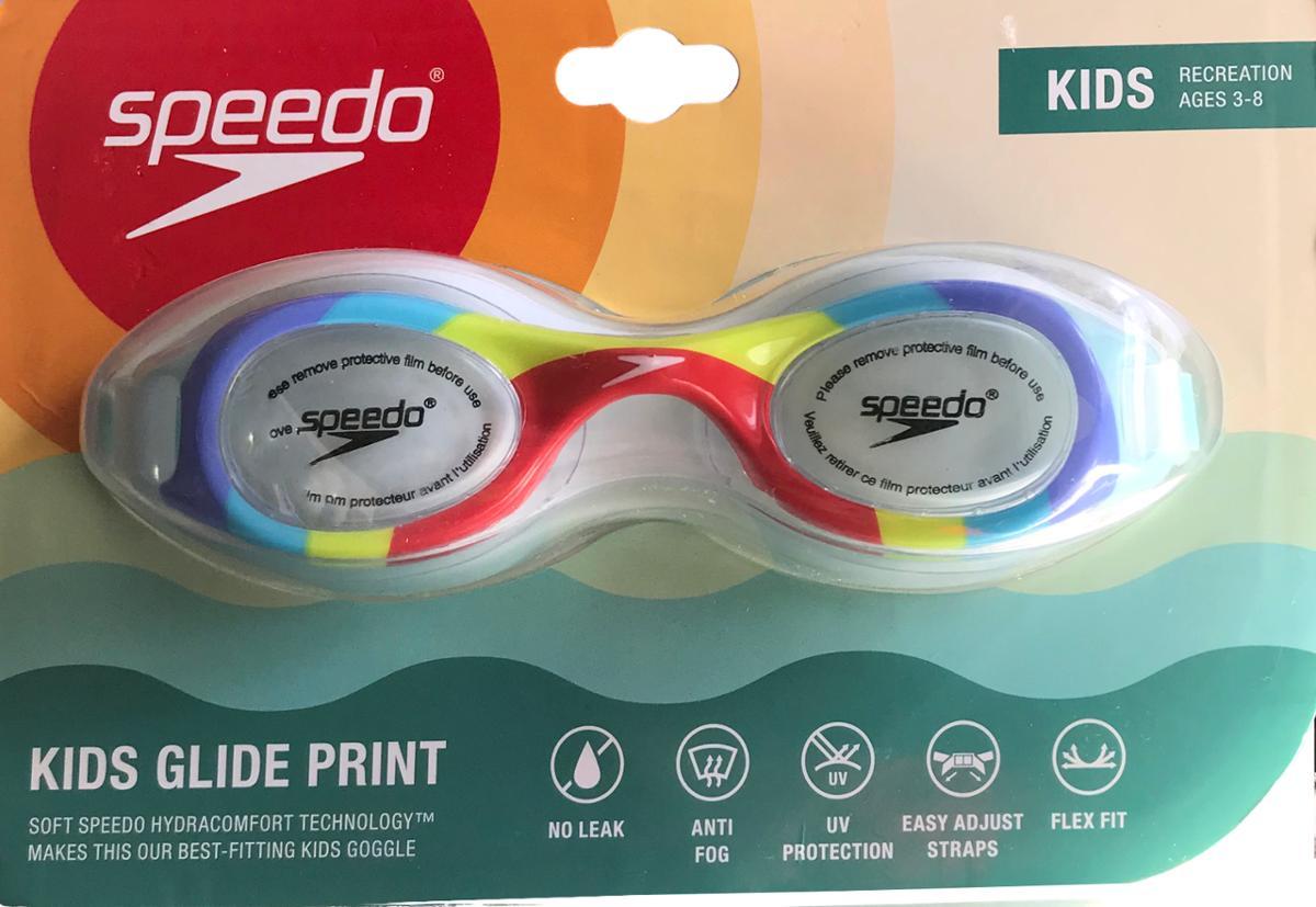Speedo Kids Glide Print Swimming Goggles Rainbow