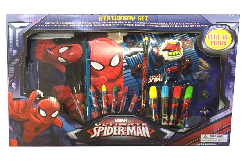 SpiderMan 30 pc Stationery Set