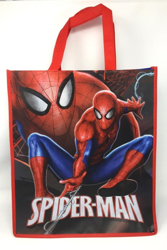 Spider-Man Authentic Licensed Goody Bags, Tote or Gift Bags with Handles, 16 Inch Party Favor Set (6 Pack)