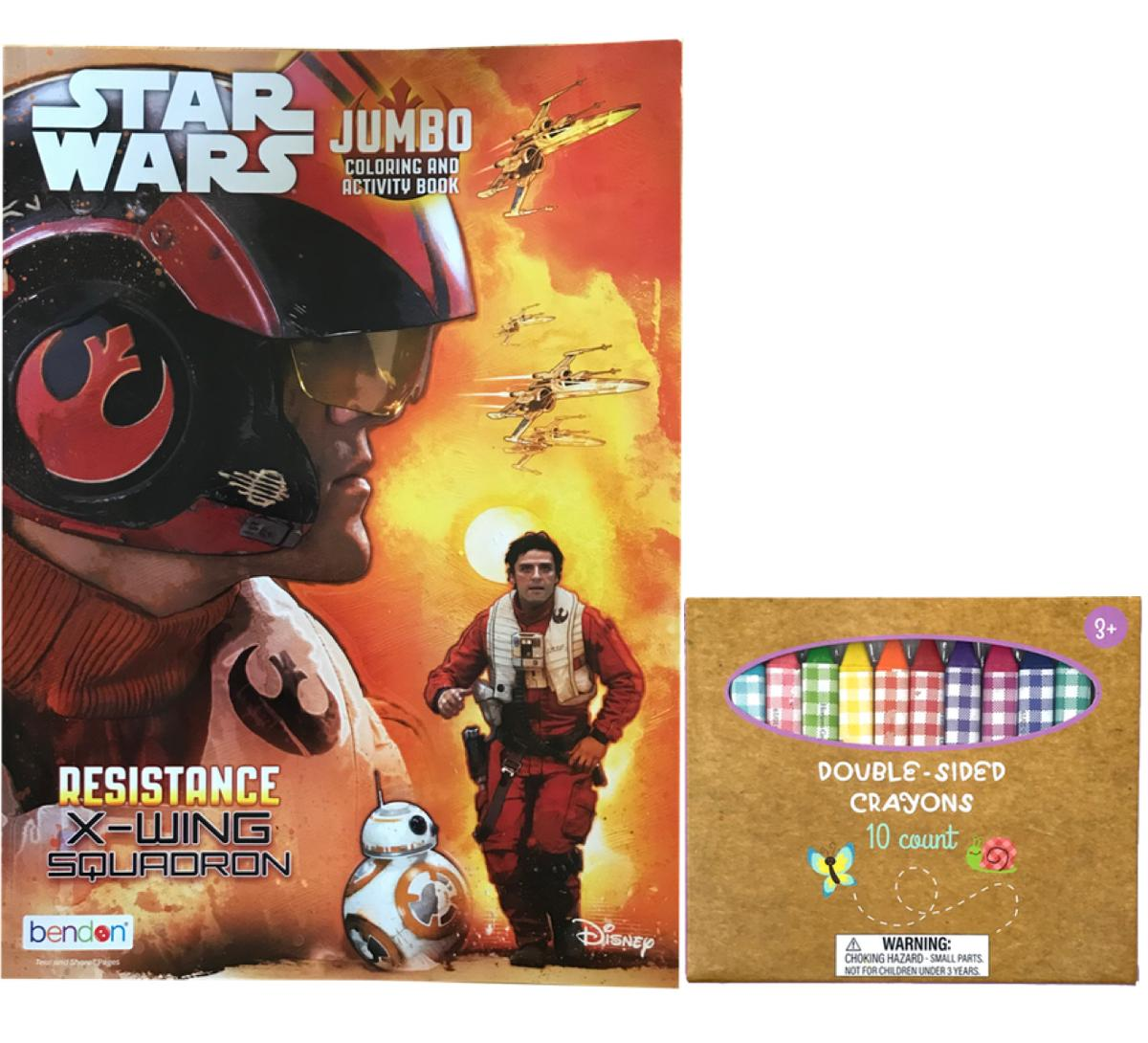 Star Wars Jumbo Coloring and Activity Book and Double Sided Crayons