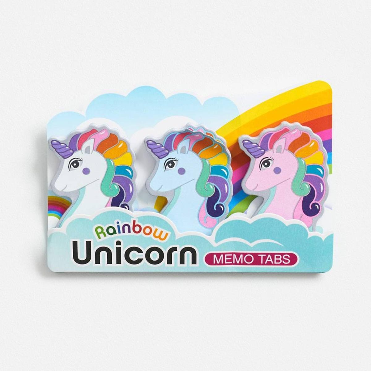 Rainbow Unicorn Memo Tabs