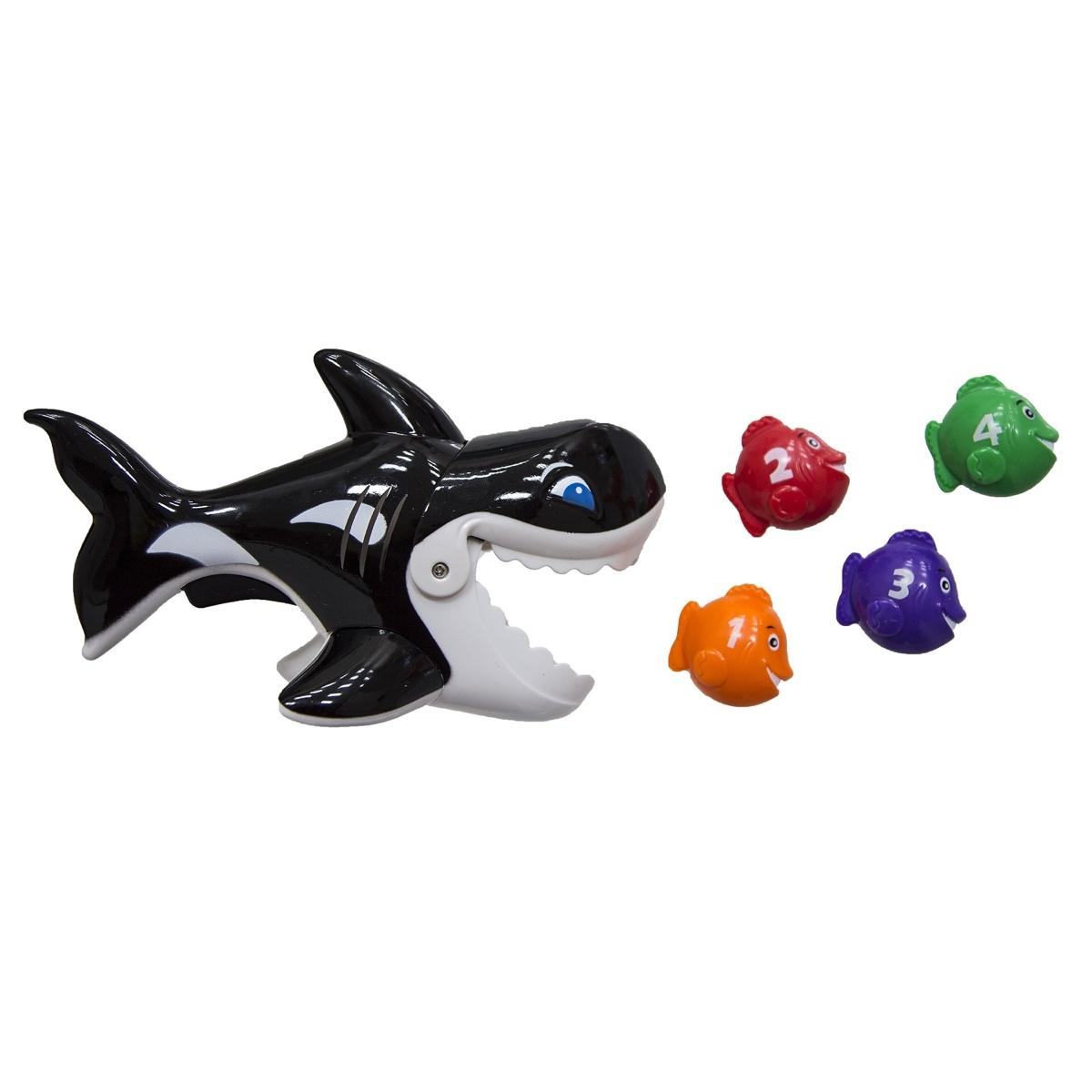 Swim Way 7 Inch Gobble Guppies Swim and Learn Whale Pool Toy