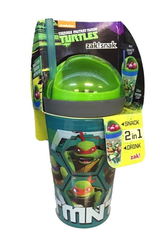 TMNT 2 in 1 Snack and Drink Tumbler
