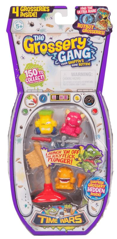 The Grossery Gang Season 5 Time Wars Cyber Slop, Putrid Pizza, and Regular Pack Gift Set