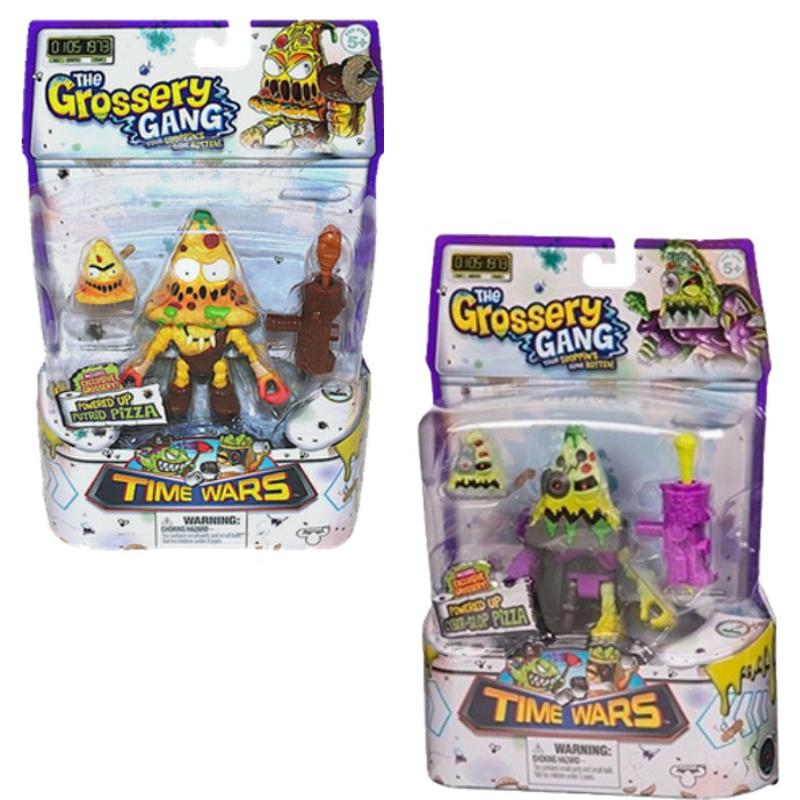The Grossery Gang Season 5 Time Wars Powered Up Putrid Pizza and Cyber-Slop Pizza 2 [Pack]