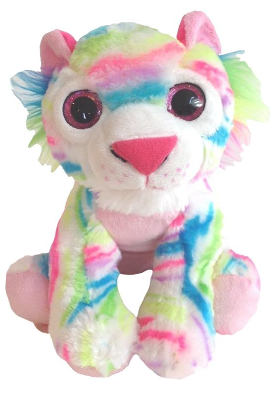 Plush Rainbow Tiger Stuffed Animal, 11 Inch