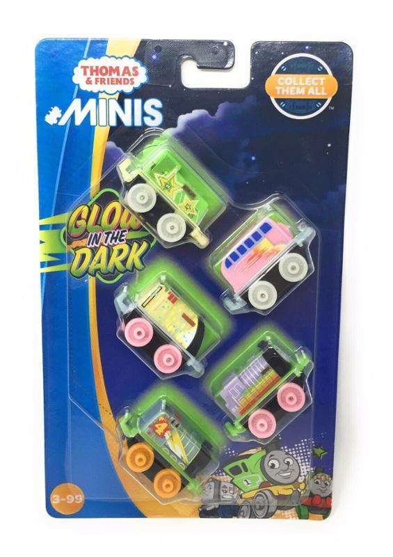 Thomas & Friends Minis Glow in The Dark Set of 5 Trains