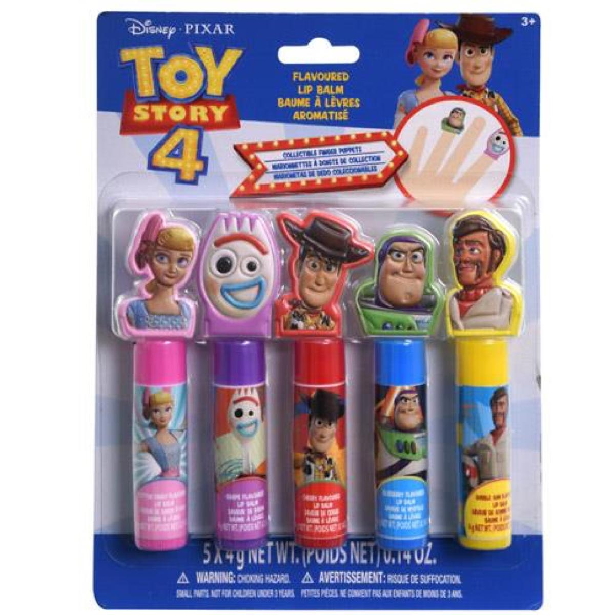 Toy Story 5 PK Flavored Lip Balm With Finger Puppets