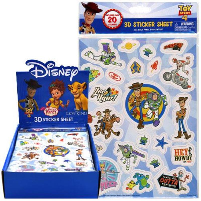 Toy Story 4 Raised Sticker Sheet in Poly Bag