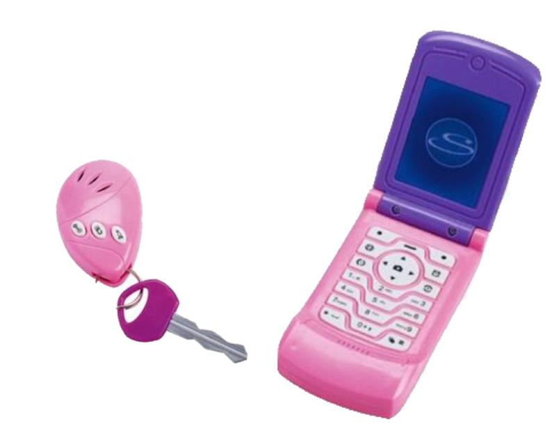 On The Go Play Phone and Key Pink