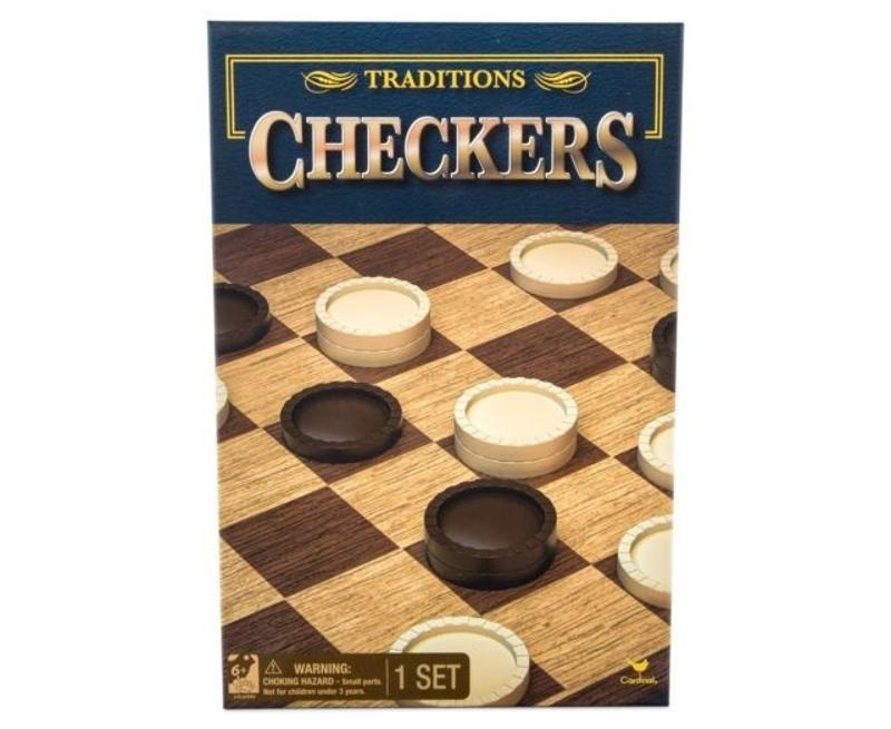 Traditions Checkers Board Game