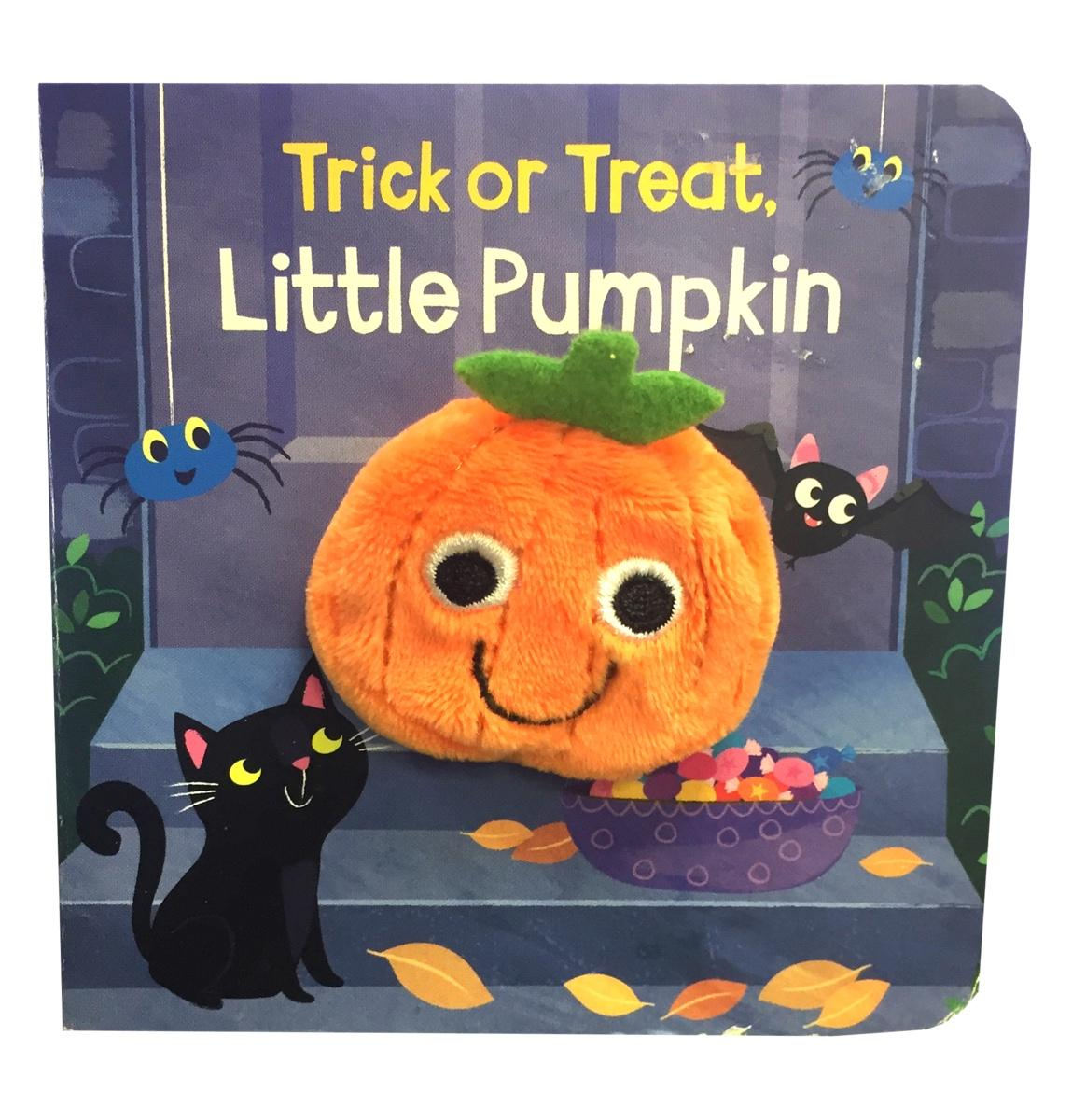 Trick or Treat Little Pumpkin Halloween Puppet Book