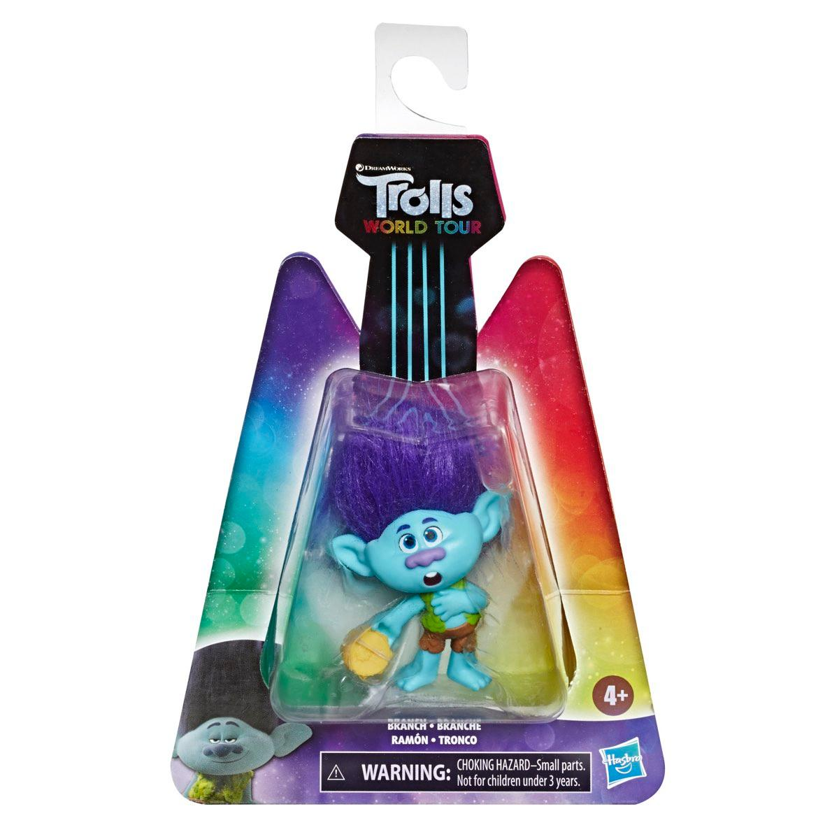Trolls World Tour Branch Doll with Tambourine Accessory