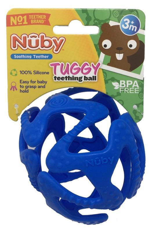 Tuggy Teething Ball Blue