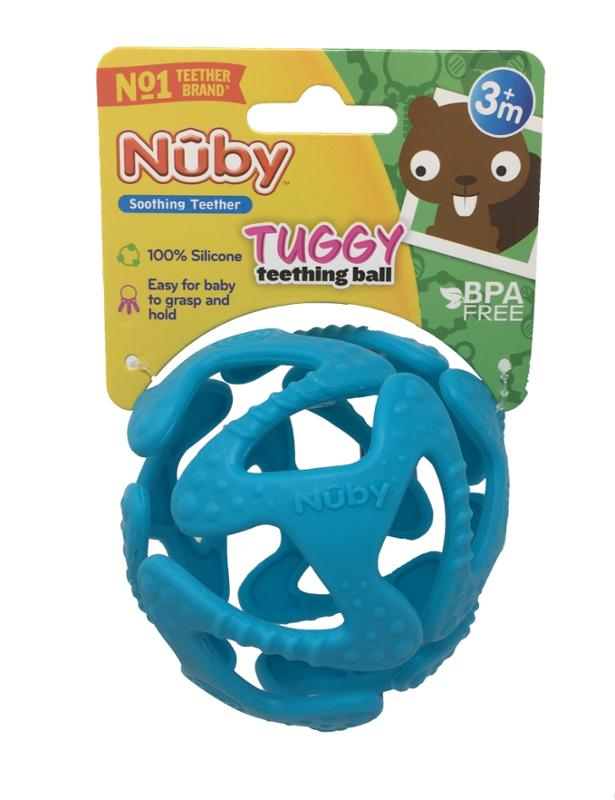 Tuggy Teething Ball Light Blue