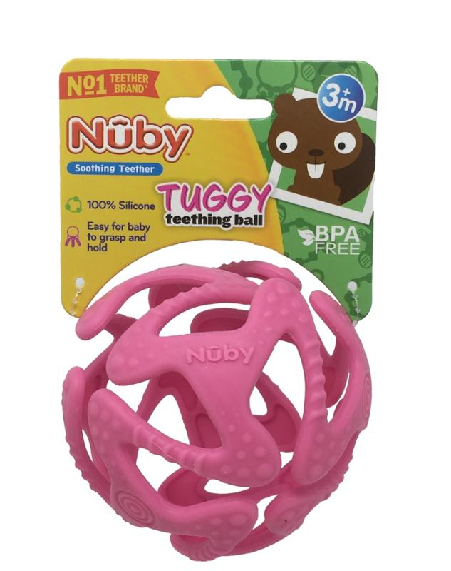 Tuggy Teething Ball Pink