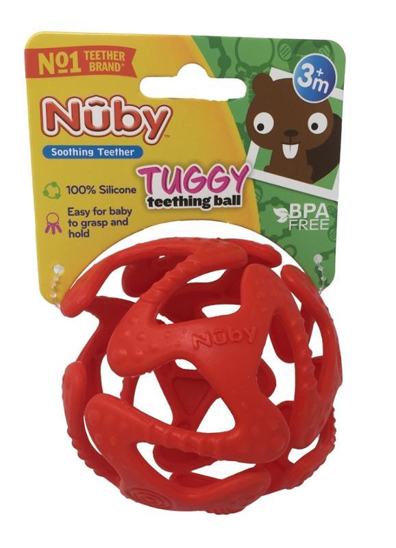Tuggy Teething Ball Red