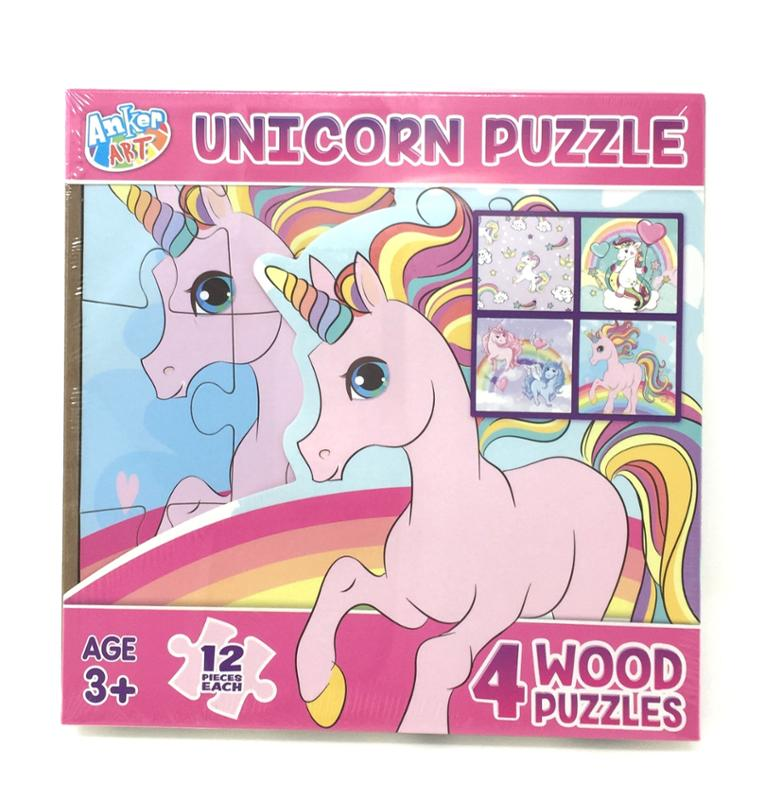 Unicorn 4 In 1 Wooden Puzzle in A Box
