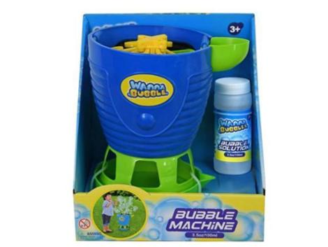 Bubble Machine Blower for Kids with Solution