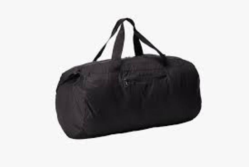 Barrel Black Duffel Bag