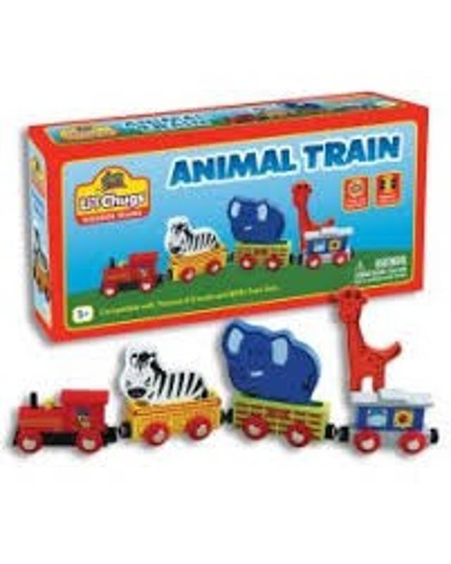 Wooden Animal Kids Train Set