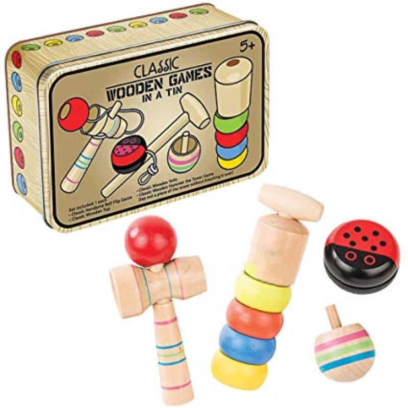 Classic Wooden Games In a Tin