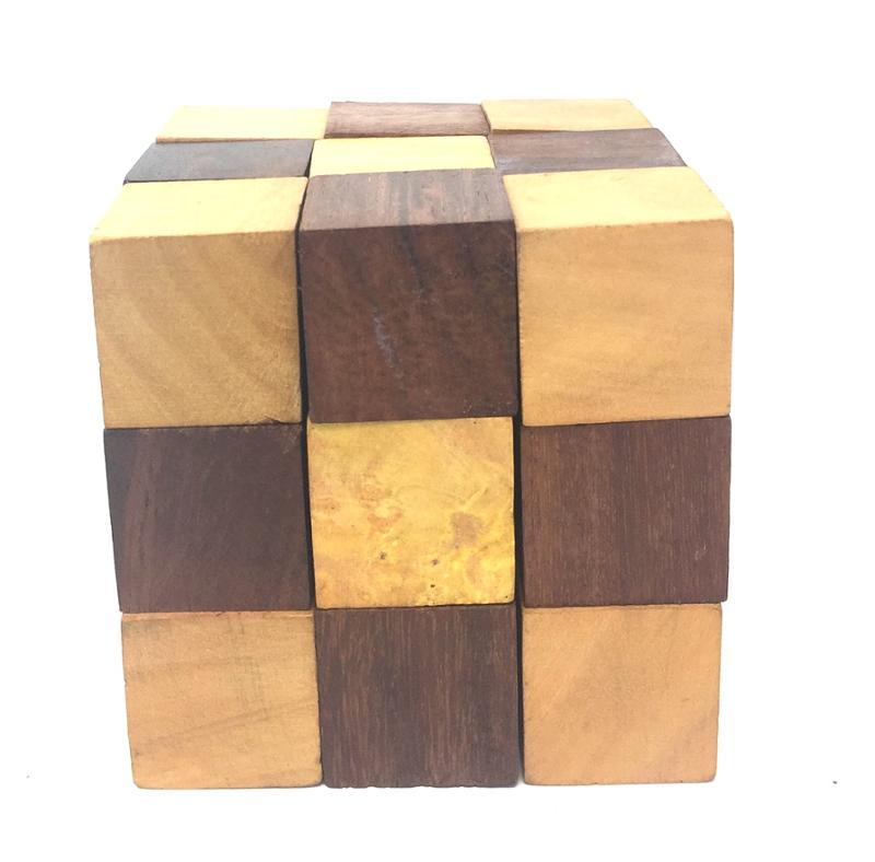 Wooden Handicraft Snake Cube Brainteaser Puzzle