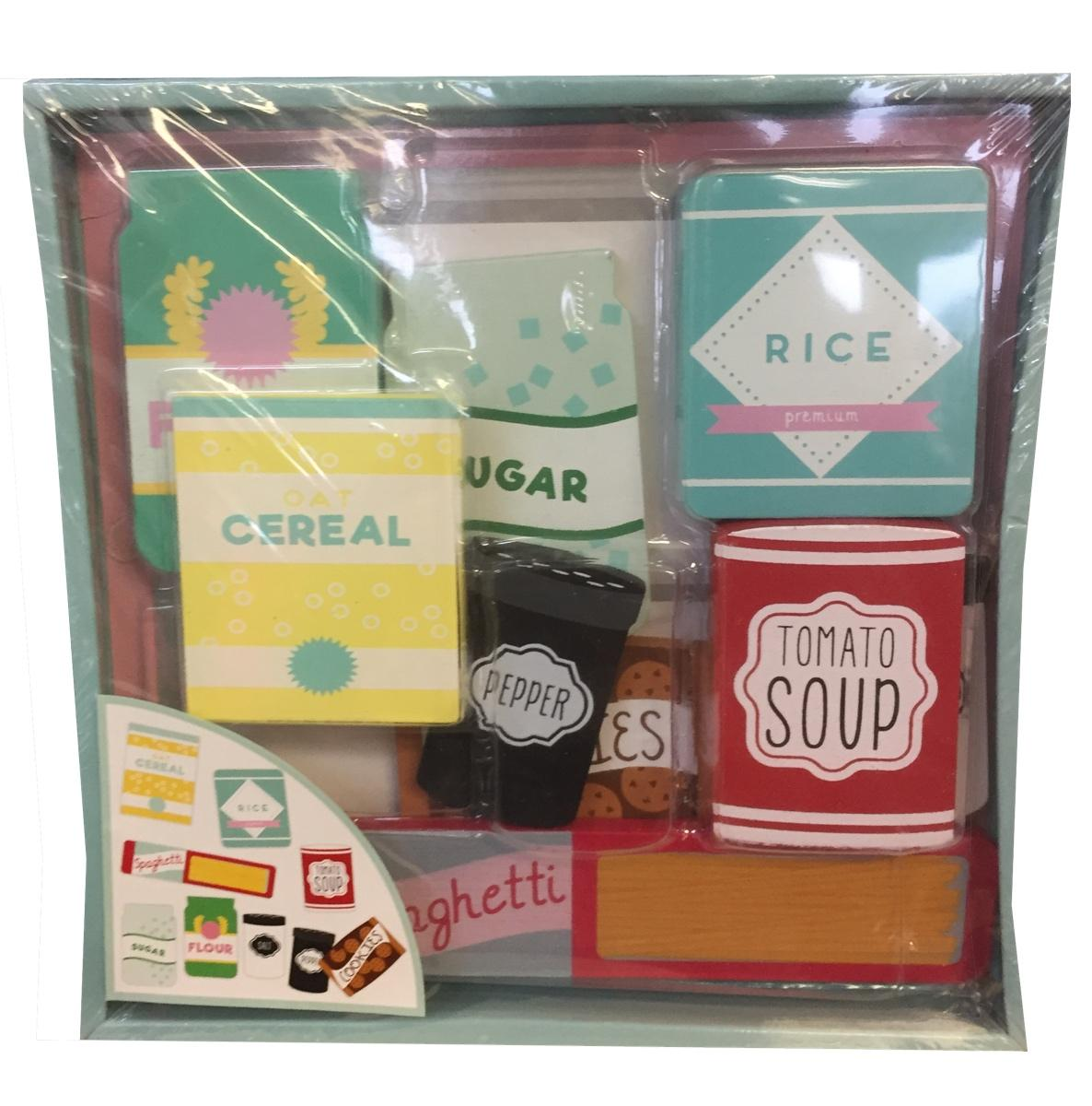 Wooden 9 Piece Play Food Set